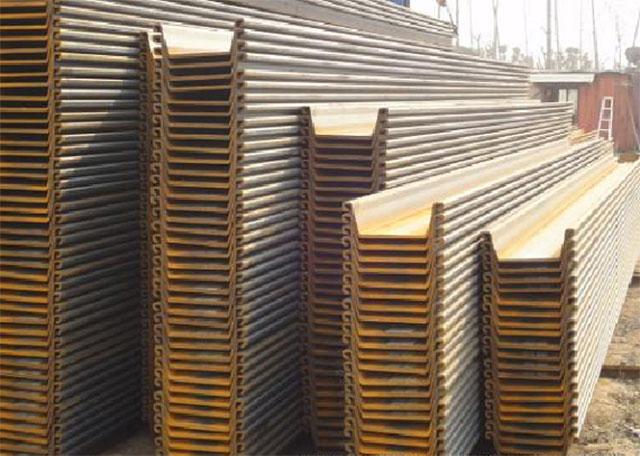 6米拉森钢板桩出租施工图片